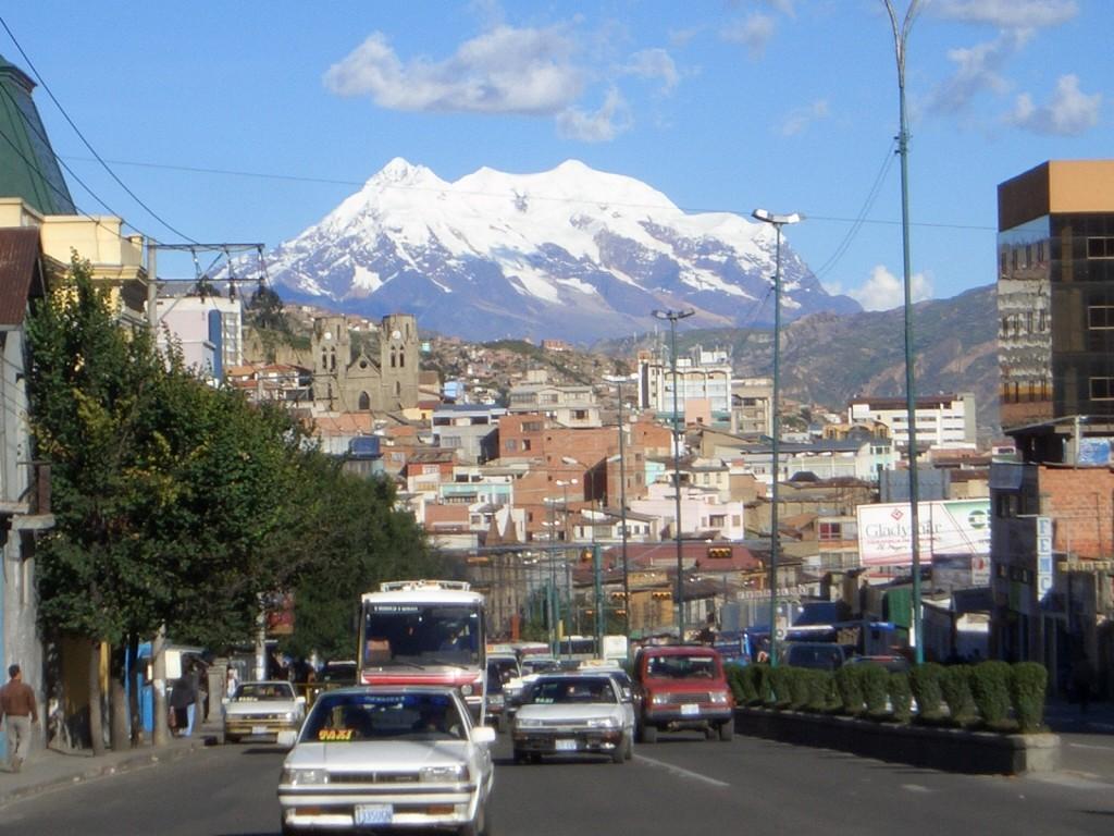 La ciudad de La Paz, la más alta del mundo.