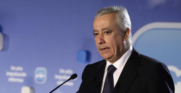 El vicesecretario general de Política Autonómica y Local del Partido Popular, Javier Arenas