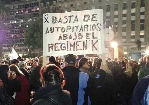 Imagen de la última protesta contra el gobierno Kirchnerista (Foto: ICNdiario)