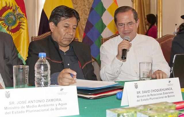 Cancilleres de Bolivia y Ecuador impulsan desarrollo conjunto