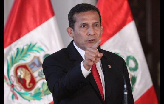 Ollanta Humala anuncia profundas medidas para combatir la corrupción