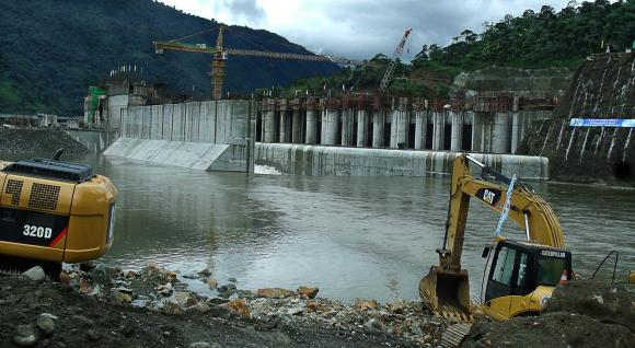La hidroeléctrica será base del nuevo modelo de desarrollo del Ecuador. Fotos: Henry Ortiz/Andes