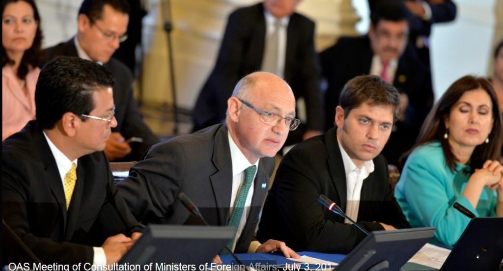La OEA respalda a Argentina que pide negociar  su deuda pero no bajo extorsión
