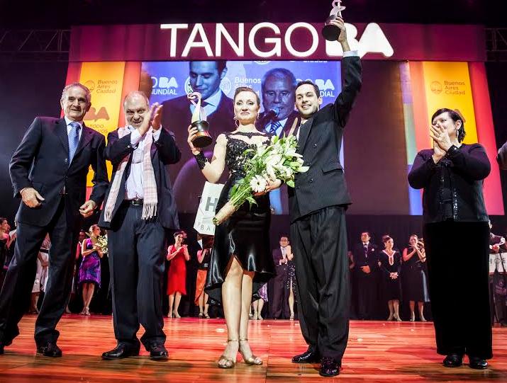 Una uruguaya y un argentino ganan el campeonato mundial en tango de pista