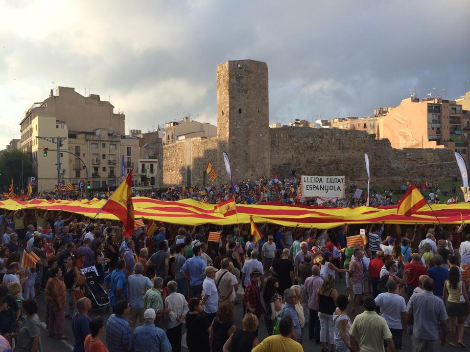 Una Cataluña dividida por la consulta soberanista celebra la Diada