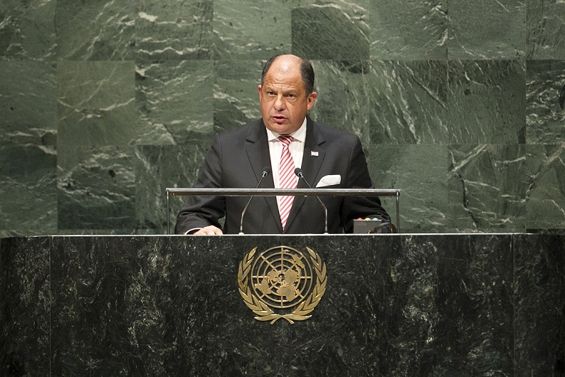 Presidente de Costa Rica insta cambiar proceso de elección de Secretaría General de la ONU