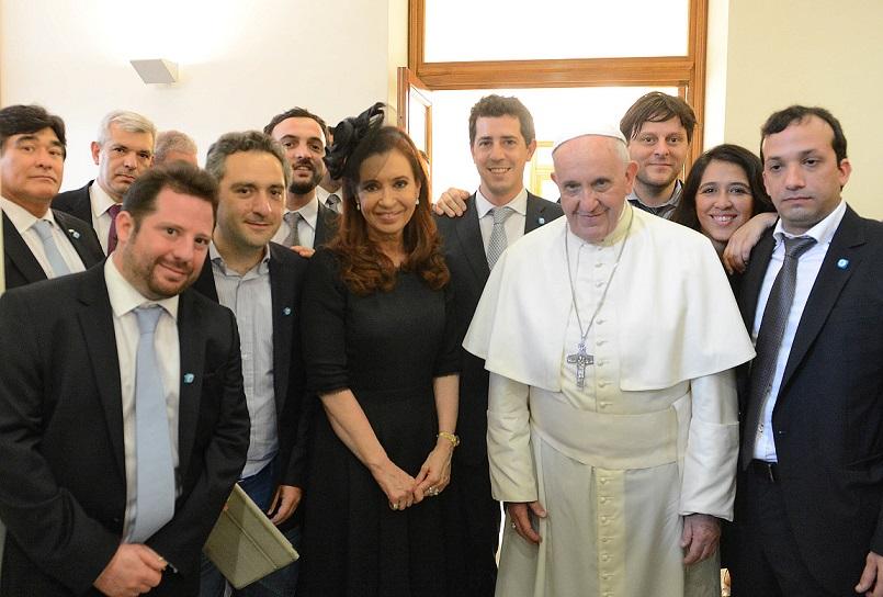 """Cristina Kirchner: """"el Papa no está en absoluto"""" preocupado por la gobernabilidad en Argentina"""