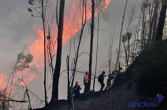 Presentan balance de incendios forestales en Quito