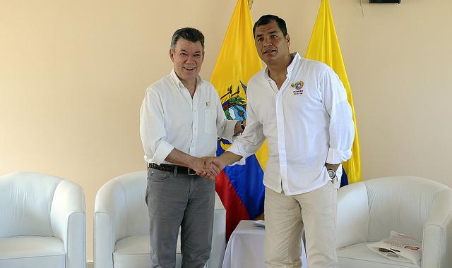 Rafael Correa reiteró todo su apoyo a los diálogos de paz en Colombia