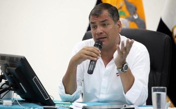 """Presidente Correa: """"No tienen legitimidad para desestabilizar al gobierno"""""""
