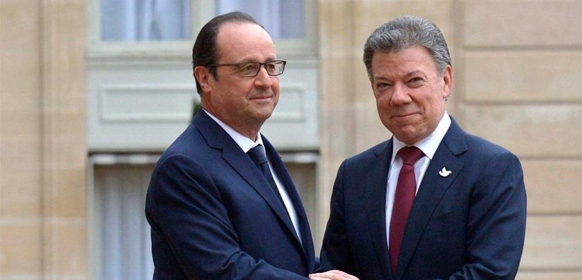 Hollande: 'Me alegra recibir a un Jefe de Estado que ha optado por la paz para su país'