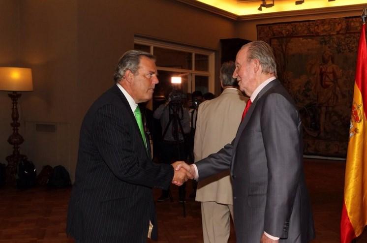 El rey Juan Carlos con los españoles en Uruguay