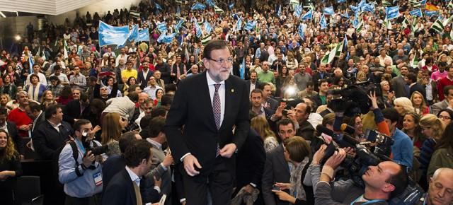 """Rajoy: """"seremos, una vez más, el partido más votado por los sevillanos y por los andaluces"""""""
