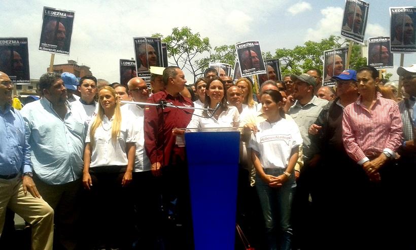 María Corina Machado reta al régimen a que la audiencia del alcalde Ledezma sea pública