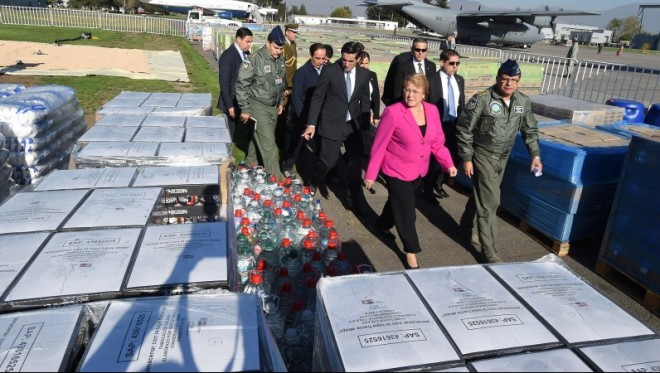 Bachelet reitera respaldo a damnificados por fuertes lluvias y garantiza viviendas