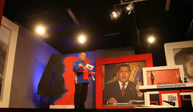 Foto de la Asamblea Nacional promocionando el programa de TV de Cabello