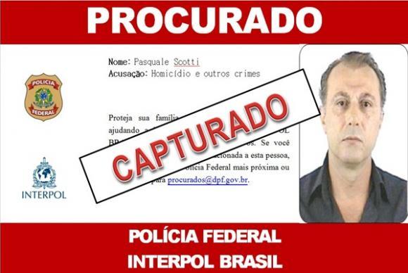 Capturan en Brasil a mafioso italiano fugado hace 31 años
