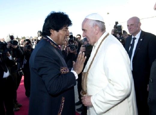 Evo Morales interpreta que carta del Papa es de apoyo a la demanda marítima