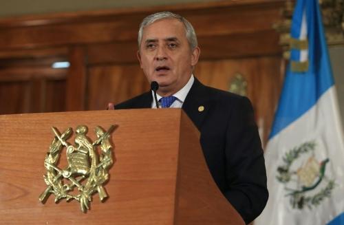 El presidente de Guatemala no renuncia pese a la acusación de corrupción