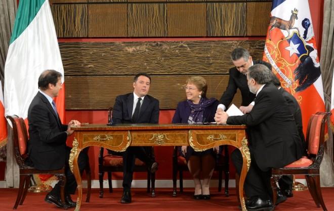 Chile e Italia suscriben acuerdos para impulsar desarrollo conjunto