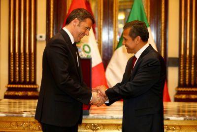 Humala destaca apoyo de Italia en eliminación de Visa Shengen e ingreso de Perú a la OCDE