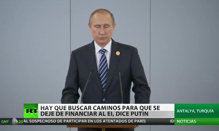 Putin denuncia que hay países del G20 que financian al terrorismo del Estado Islámico