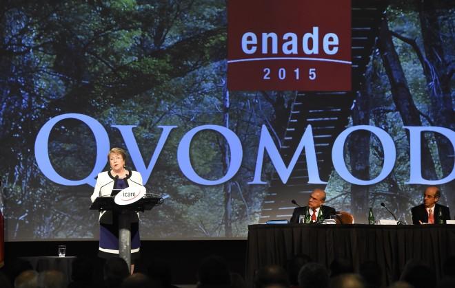 """Bachelet aboga por mayor """"confianza social"""" para impulsar el desarrollo"""