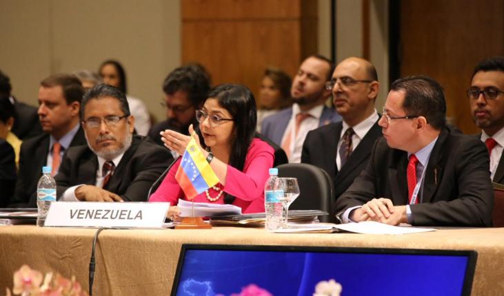 Papelón histórico: canciller chavista fue a reunión del Mercosur y la dejaron sola