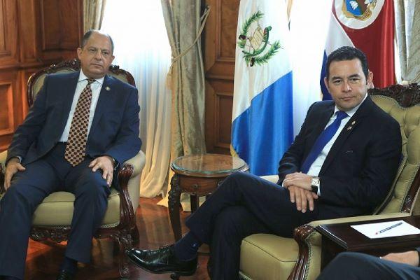 Guatemala y Costa Rica analizan temas de integración centroamericana