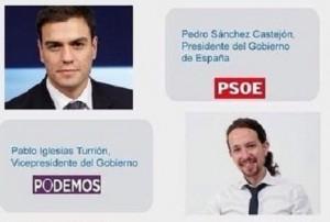 Podemos revela el pacto de gobierno con el PSOE y da nombres de ministros