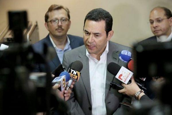"""Jimmy Morales: """"el Estado guatemalteco ha sido infiltrado por mafias y por crimen organizado"""""""