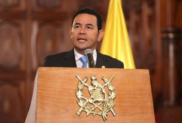 "Jimmy Morales: ""cero tolerancia a la corrupción"""