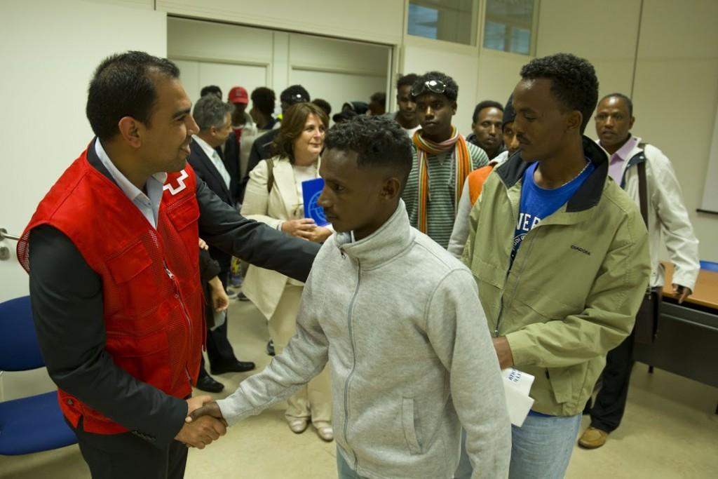 Llegan más refugiados desde Italia para su reubicación en España