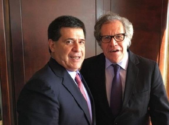 OEA destaca iniciativa de Cartes para tratar situación de Venezuela