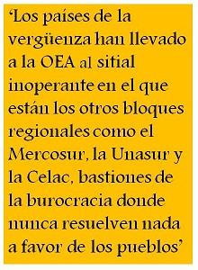 La dignidad de Almagro y el triste papel de algunos países que integran la OEA