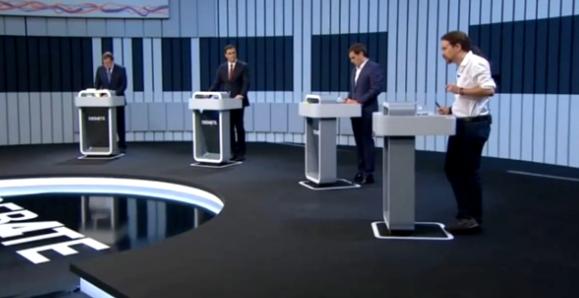 Un debate previsible entre cuatro candidatos a presidir el gobierno español