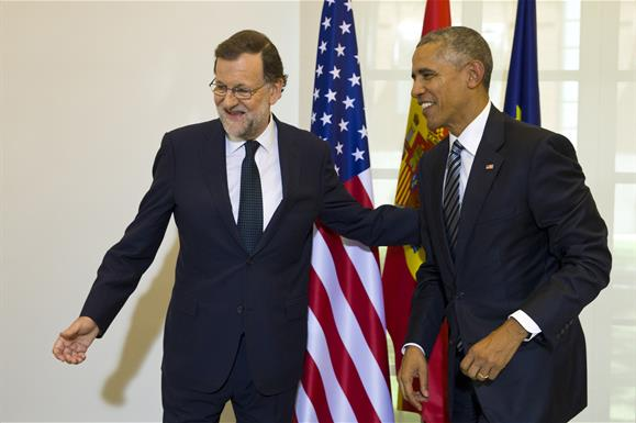 En la visita de Obama, Rajoy asegura que hará todo para formar gobierno