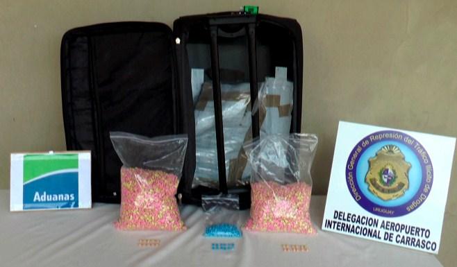 Uruguay: ciudadana española detenida con 15.000 pastillas de éxtasis