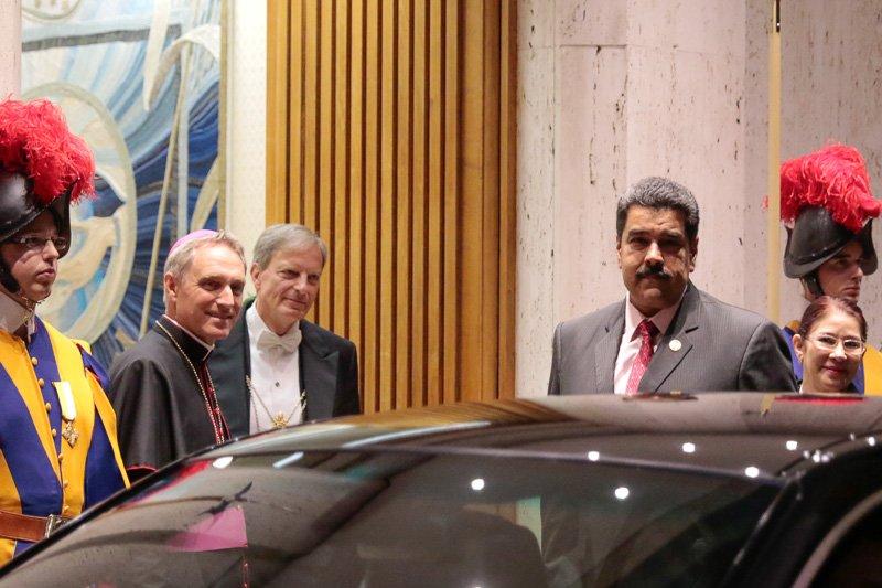 Maduro cree en el perdón divino: 'Me he reunido con el Papa, me voy bendito'