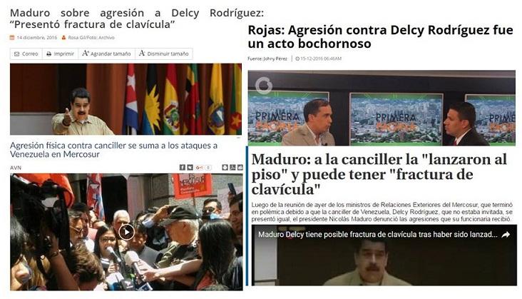 Teleteatro venezolano: La dudosa agresión a Delcy Rodríguez