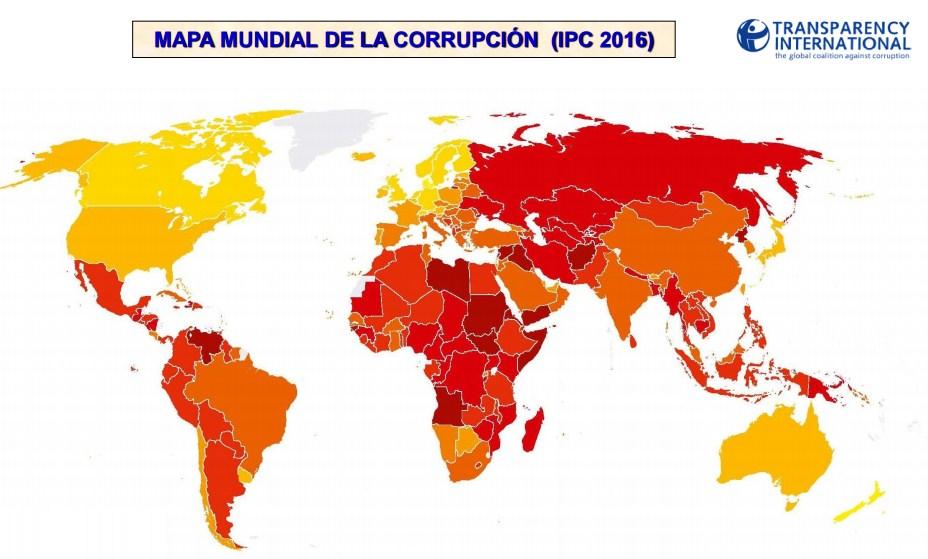 Uruguay el país con menor índice de corrupción en América, Venezuela el más corrupto