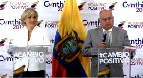 Si gana las elecciones, Cynthia Viteri sacará a Ecuador del ALBA visto el daño que le hizo a Venezuela