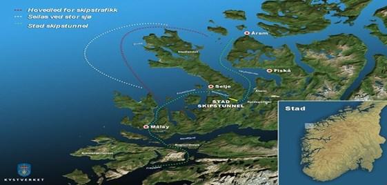 Se construirá un túnel de buques en Noruega