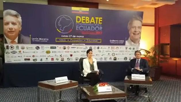 Papelón: candidato oficialista de Ecuador no fue al debate presidencial