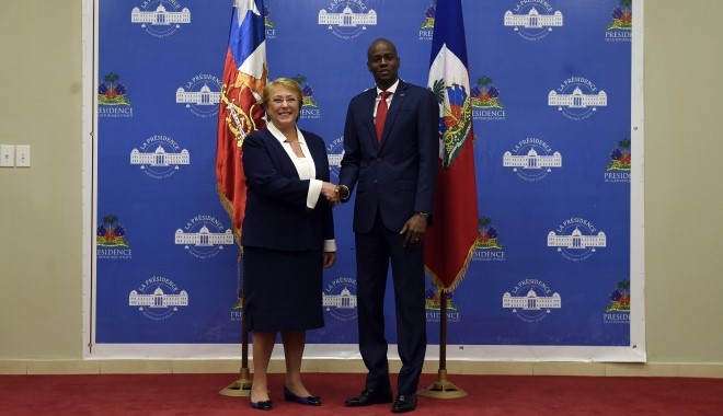 """Bachelet: """"Chile se ha involucrado con Haití mediante diversos proyectos de cooperación"""""""