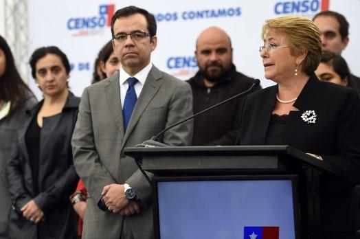 Bachelet asegura que gracias al Censo 2017 se podrán proyectar mejores políticas publicas