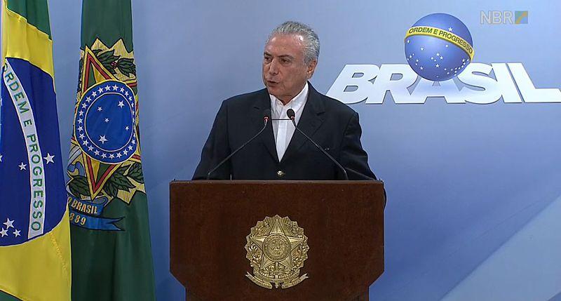 Brasil:  Michel Temer cree que hay una 'conspiración' para destituirlo