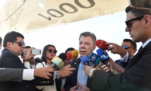 Inicia reunión entre Santos y Trump ¿De qué hablará?