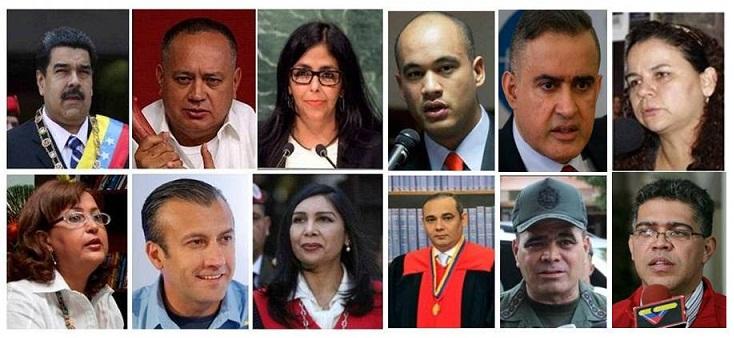 Venezuela: Estos son los rostros de la dictadura militar del régimen del terror