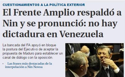 A pesar de las ofensas del chavismo Uruguay le pone la otra mejilla a Maduro